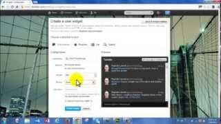 Adobe Muse - How to embed a live Twitter Feed into a Muse Website Part 1