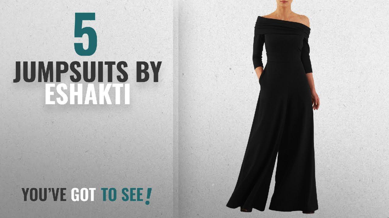 c4bb5f0e05b5 Top 10 Eshakti Jumpsuits  2018   eShakti Women s Off-shoulder cotton knit  jumpsuit