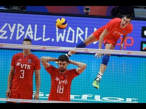 США - Россия - прогноз на волейбол - 13.07.2019