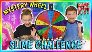 MYSTERY WHEEL OF DUMP IT SLIME CHALLENGE | We Are The Davises