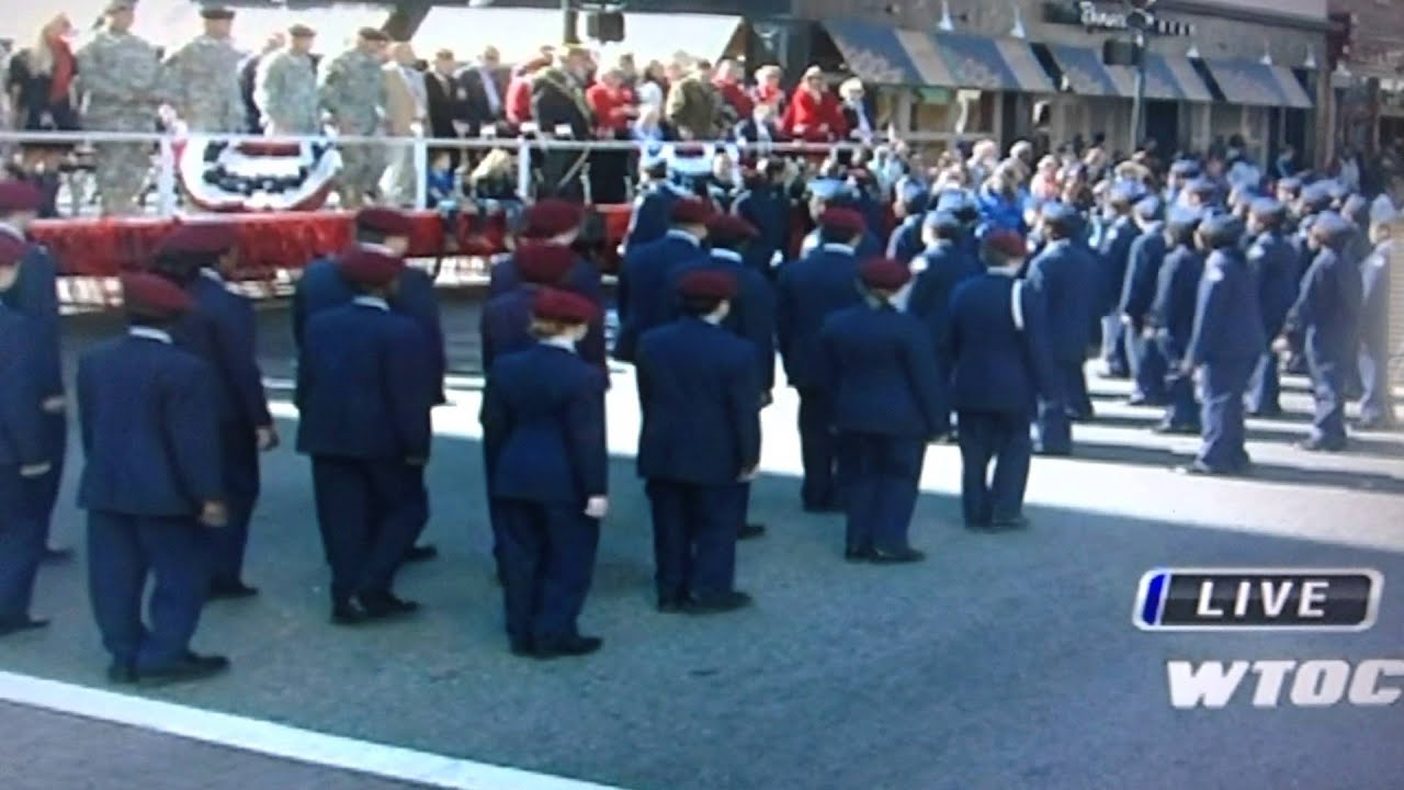 new hampstead high school afjrotc in veterans day parade - YouTube