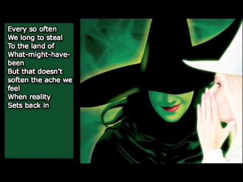 I'm Not That Girl - Wicked - Karaoke/Instrumental [w/ lyrics]