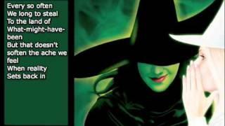 I'm Not That Girl - Wicked - Karaoke/Instrumental [w/ lyrics]