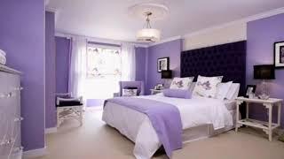 ไอเดียห้องนอนสีม่วง หรูสวยมีพลัง Bedroom decoration ideas in purple tones