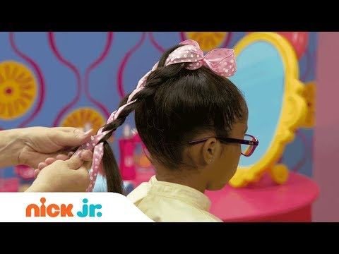 How to Create an Adorable Ponytail 🎀 Style Files Hair Tutorial   Sunny Day   Nick Jr