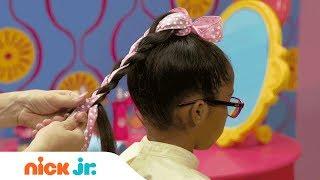 كيفية إنشاء رائعتين ذيل حصان   نمط الملفات الشعر التعليمي | يوم مشمس | Nick Jr