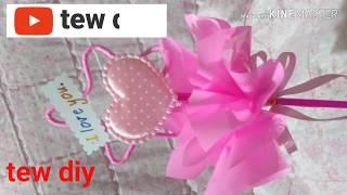 ช่อดอกไม้วาเลนไทน์แบบง่ายๆ #ช่อหัวใจหวานๆ