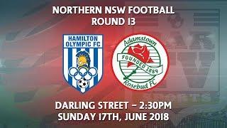 2018 NNSWF NPL Round 13 - Hamilton Olympic FC v Adamstown Rosebud FC