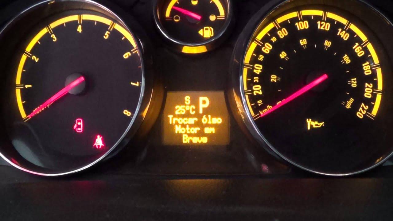 Chevrolet Captiva - Como apagar a mensagem de troca de ...