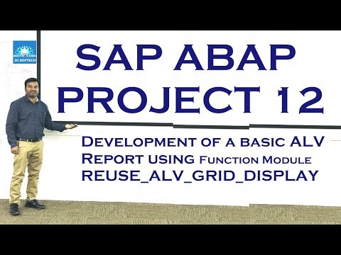 SAP ABAP Real Time Project 12, ALV, Basic Report