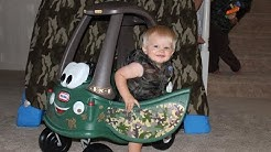 Camoflauge Kids and the Little Tikes Cozy Coupe Off-Roader Camo Car