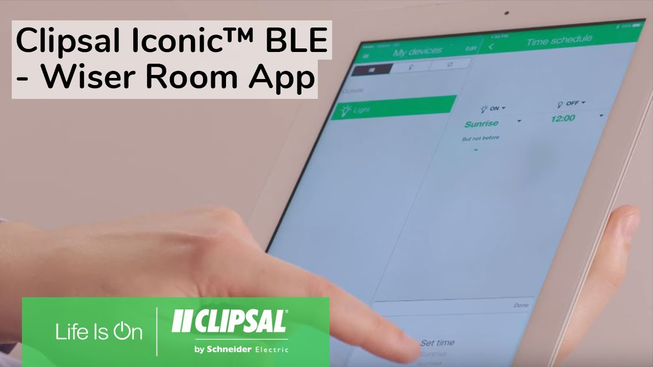 Clipsal Iconic™ BLE - Wiser Room App - YouTube