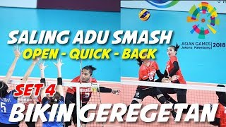 SALING ADU SMASH...!!! Indonesia Vs Thailand | Asian Games 2018