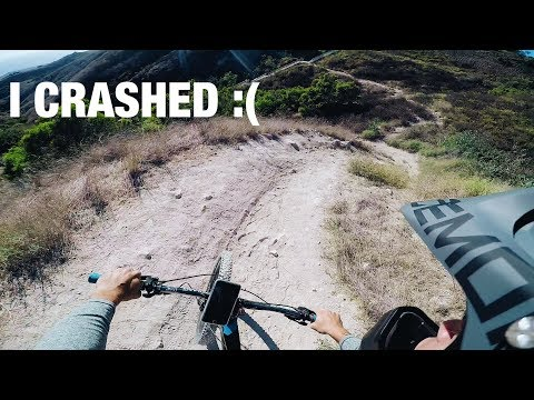 MY FIRST TIME RIDING MTB *CRASH FOOTAGE*