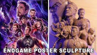 'Avengers: Endgame' Poster Sculpture - Timelapse Video