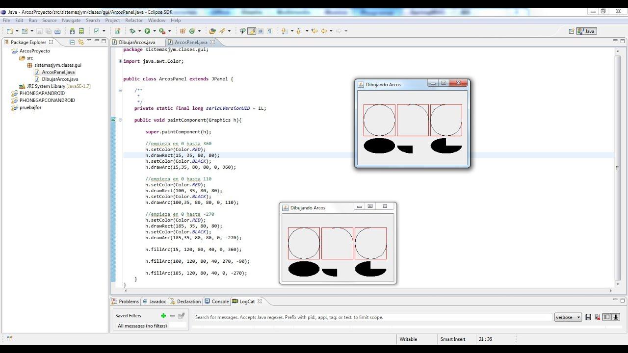 Tutorial N5 Graphic2D en JAVA Eclipse  Netbeans Arcos  YouTube