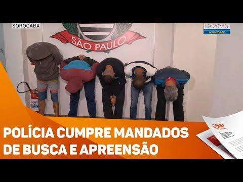 Polícia cumpre mandados de busca e apreensão - TV SOROCABA/SBT
