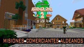 Karmaland 2 Pueblo Misiones Comerciantes Aldeanos Minecraft descargar #KARMALAND2