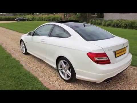 2012 mercedes c220 coupe amg sport white panoramic roof youtube. Black Bedroom Furniture Sets. Home Design Ideas