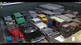 مصر.. سيارات ملكية ورئاسية قديمة  في مرآب بالجيزة