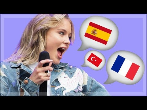 ZARA LARSSON speaking 3 DIFFERENT LANGUAGES PT.1