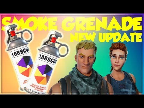 NEW SMOKE GRENADE UPDATE! (Subscribe To Join Our Lobby) - Fortnite Battle Royale