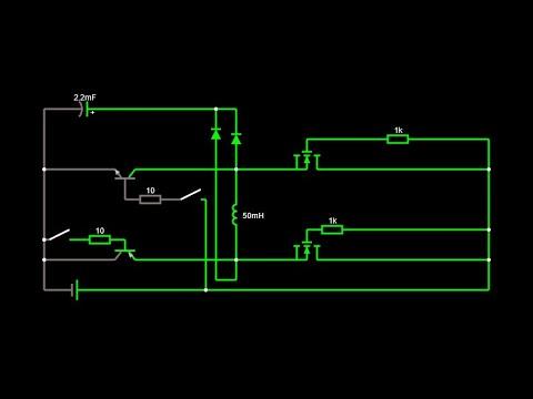 2х полюсное управление бесколлекторным двигателем с помощью биполярного датчика холла и ШИМ