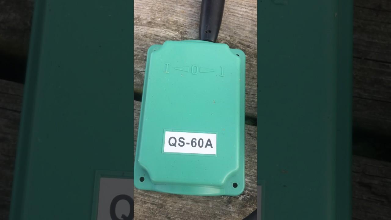 110 Schematic Wiring Diagram Qs 60a Drum Switch Wiring Youtube