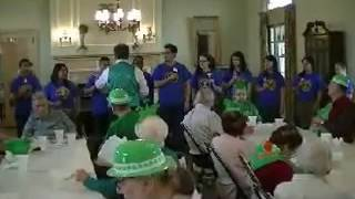 Jones Home St  Patricks Party Interact HS Students