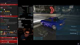 Twitch reacts to World Record - NFS Underground 100% Speedrun