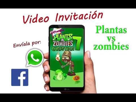 Video Invitación Plants Vs Zombies Plantas Vs Zombies