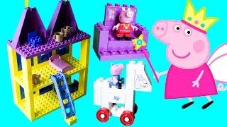 Peppa Pig Castle Mega Blocks Construction Toys Princess Peppa And George Castillo Princesa Peppa