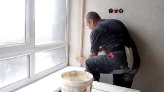 Откосы окна , оформление , часть1
