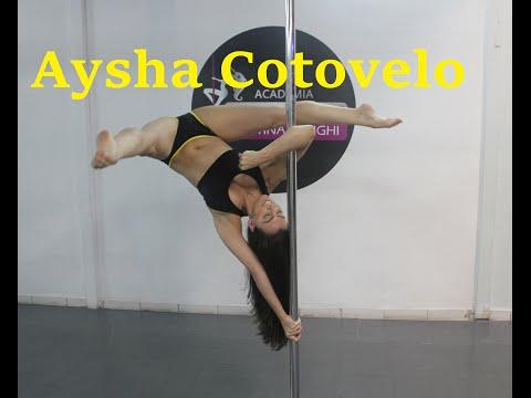 Aysha de Cotovelo - Tutoriais de Pole Dance por Alessandra Rancan