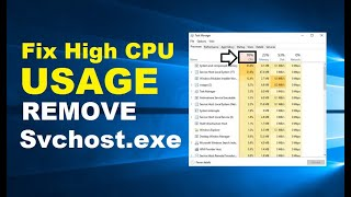 How to Fix High CPU Usage in Windows 10 | Remove svchost.exe | Quick & Working