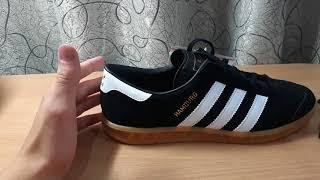 separation shoes 6d16a 96b7c Обзор кроссовок adidas hamburg black (черные ). Как отличить от подделки .