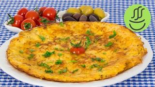 Pratik Bir Kahvaltılık Patates Omleti - Patatesli Omlet - Kahvaltılık Tarifler