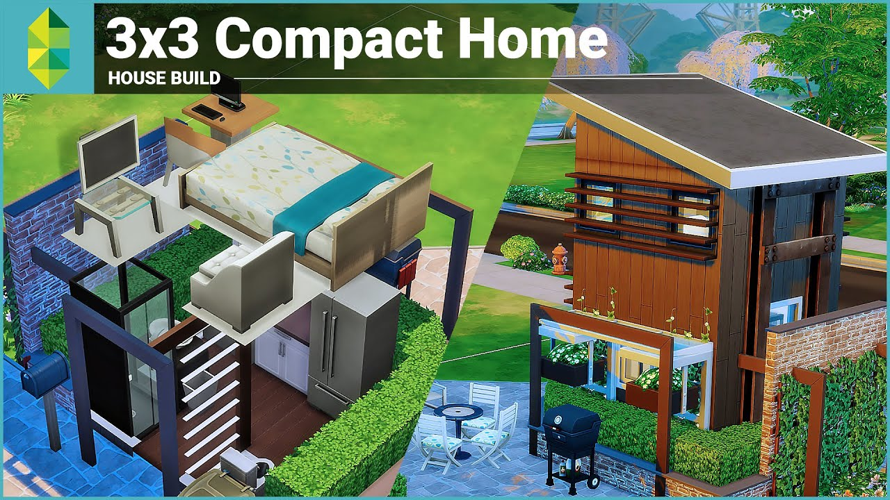 The Sims 4 House Building - 3x3 Compact Home - YouTube