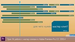 Мастер клип в программе Premiere Pro CC 2015.4