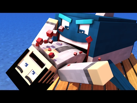 Minecraft Raft - EATEN BY A SHARK!! | Minecraft Roleplay