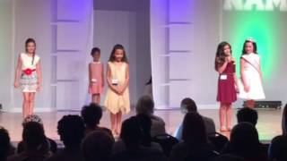 National American Miss Personal Introduction Jr Pre-Teen Contestant #2