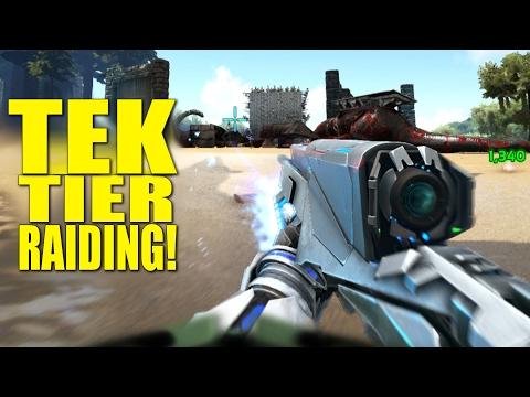 TEK TIER RAIDING! (RAIDERS/PVP) -ARK: SURVIVAL EVOLVED - ep.54