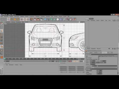 Cinema 4d modellierung audi a1 teil 1 blueprints youtube cinema 4d modellierung audi a1 teil 1 blueprints malvernweather