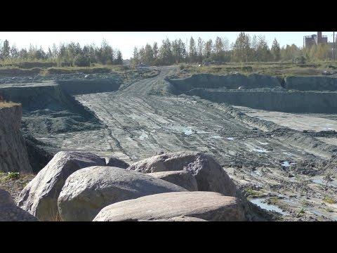 Карьер голубой кембрийской глины - лёгкий  сталк (видео туризм)easy stalk . 4К