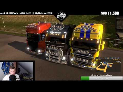 LIVE | Euro Truck Simulator 2 Multiplayer !!! EU 2 !!! | WEBCAM!!! :) | Lord Koblih | CZ/SK