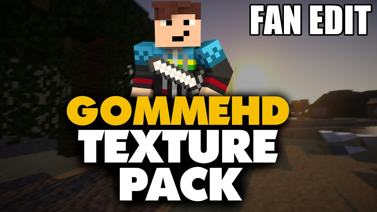 GommeHD TEXTURE PACK DOWNLOAD - Gomme skin fur minecraft pe