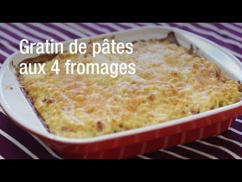 recette-du-gratin-de-pâtes-aux-4-fromages