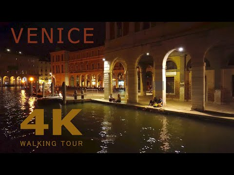 Walking And Boat Trip In Venice ~ Virtual City Tour In Italy (4K/50fps)
