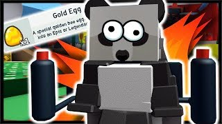 GOLD BEE EGG REWARD - COMPRESSOR JETPACK!! | Simulateur d'essaim d'abeilles Roblox