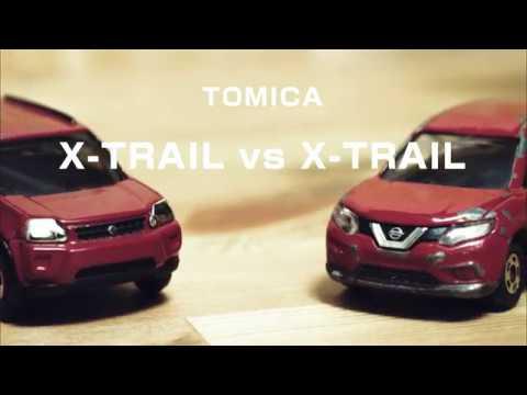 トミカ「日産エクストレイル(赤)の新型」と「旧型」をターンテーブルに乗せて比較してみました|tomica nissan x,trail